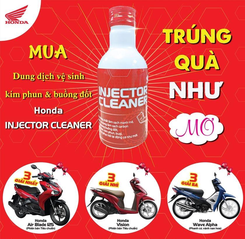 Mua Honda Injector Cleaner nhận quà mê ly